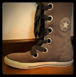 Converse All Star Gray mid calf boot Size 7